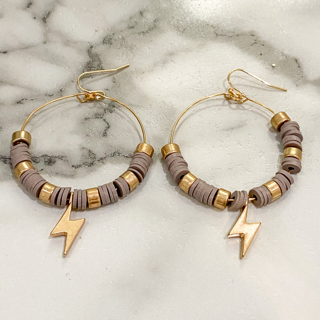 Grey Lightning Hoops