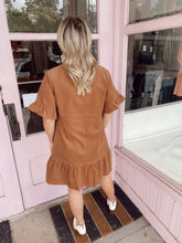Load image into Gallery viewer, Corduroy Button Dress