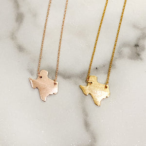 State of Texas Necklace- Gold