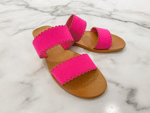 Load image into Gallery viewer, Scalloped Slide - Hot Pink