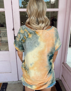 Orange Burst Tie Dye Tee