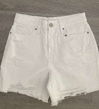 Load image into Gallery viewer, Dream High Rise Distressed Shorts - White Wash