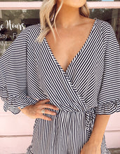 Load image into Gallery viewer, Striped Ruffle Romper