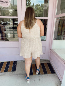 Fall Pleated Romper