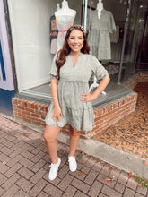 Load image into Gallery viewer, Daring In Denim Dress - Olive