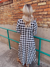 Load image into Gallery viewer, Fall Gingham Dress
