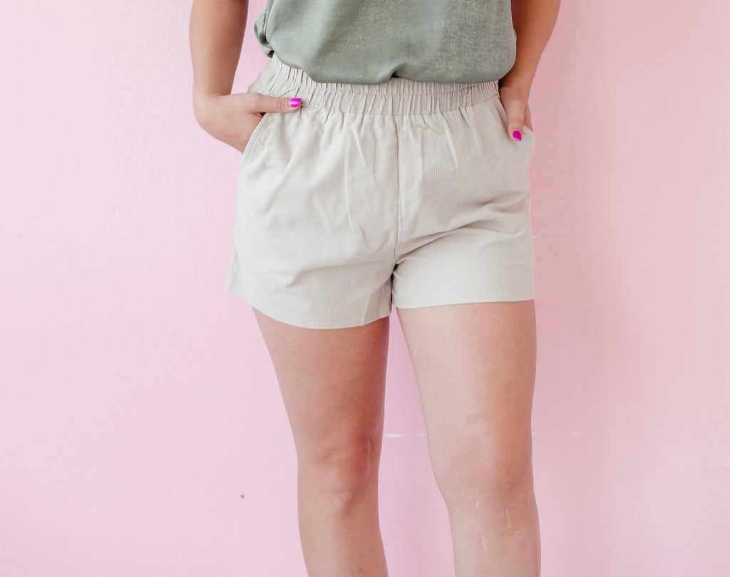Corduroy Pocket Shorts
