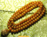 Great Tibetan mala in amber resin