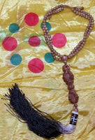 Necklace / mala with wooden dorje - protection for car.