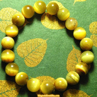Wrist mala / bracelet in clear tiger's eye