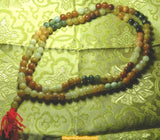 Great Tibetan mala in multicolored agate