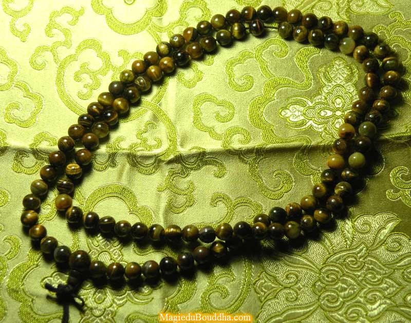 Tibetan mala in tiger's eye