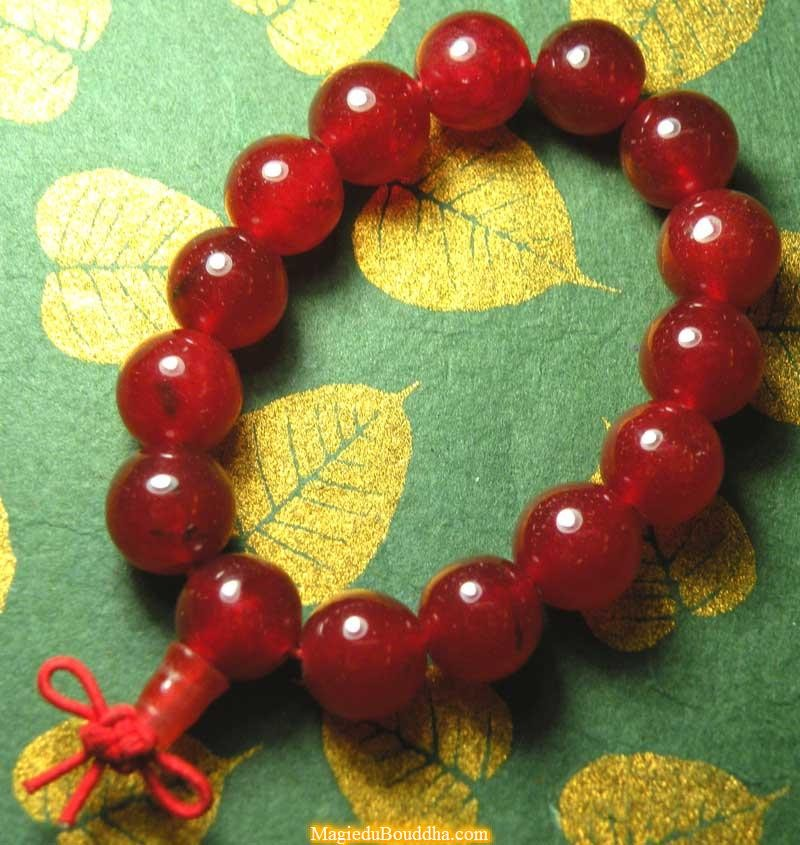 Mala wrist in red agate