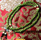 Tibetan wooden mala (with dorje) - various colors