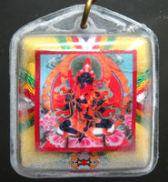 Yantra Bönpo amulet from Drenpa Namkha - for long life + protects against ghosts
