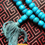 Mala yak bone stained: coral or turquoise colors