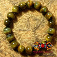 Bracelet / mala wrist in tiger's eye