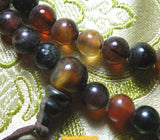 Small Tibetan mala in amber color agate
