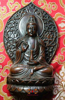 Guan Yin statue (wood effect resin)