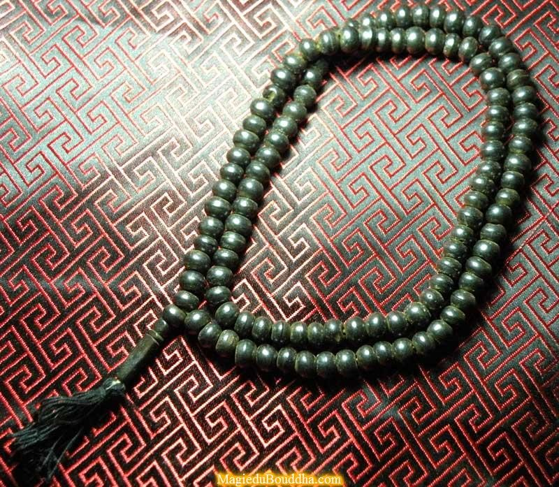 Tibetan mala made of yak bone - black color