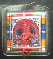 Yantra Amulet of the Tibetan Fortune Buddha Dzambhala