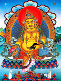 yellow jambhalla Buddha of Tibetan fortune