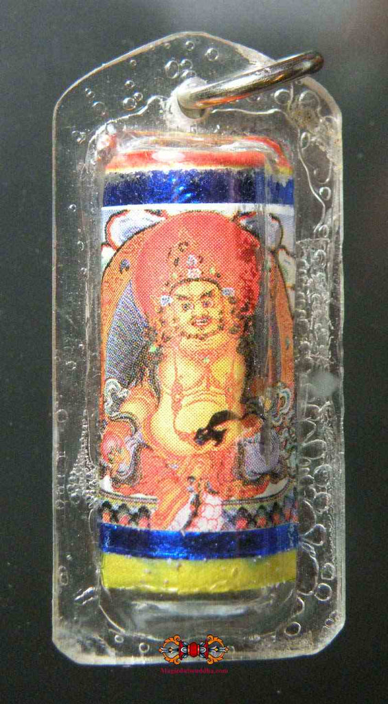 Yellow Jambhalla Mantra Amulet - Buddha of Fortune