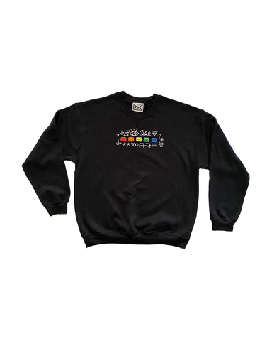 Embroidered Envelope Crewneck