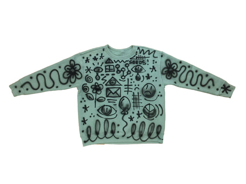 Off Green AirBrush Crewneck