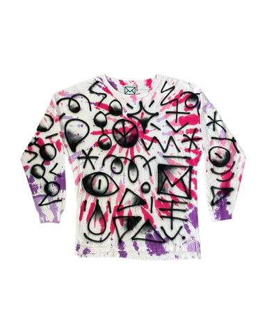 Tie Dye Airbrush Long Sleeve