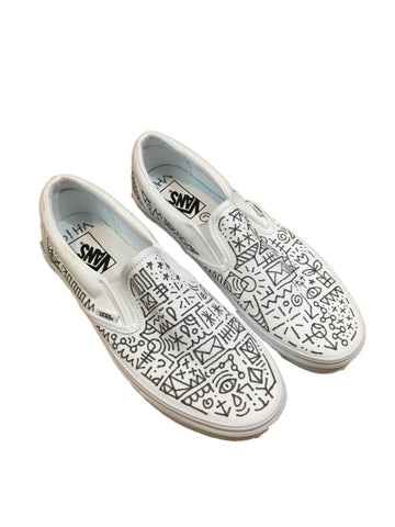 Hand Drawn Slip-On Vans