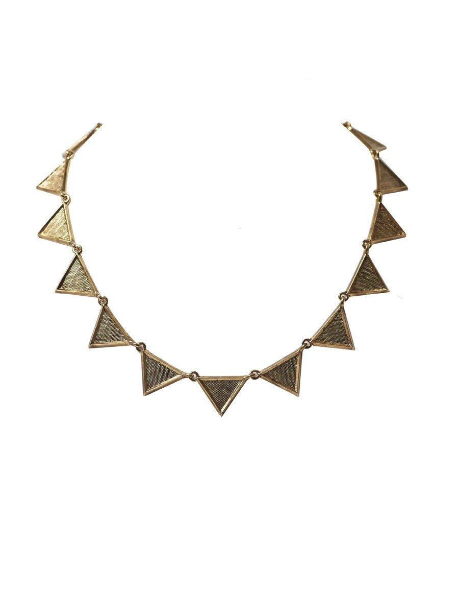 Triangle Collar Necklace (Gold)