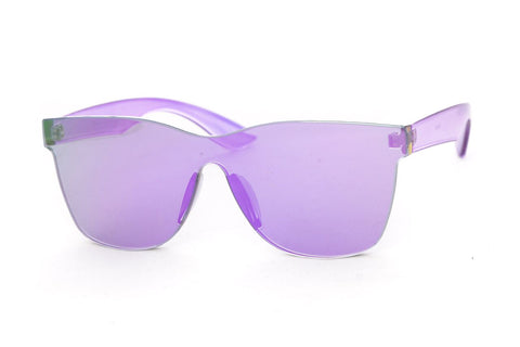 Billie Rimless Wayfarer Sunglasses