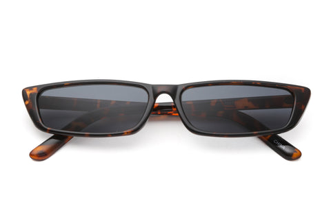 Rio Striped Slim Sunglasses