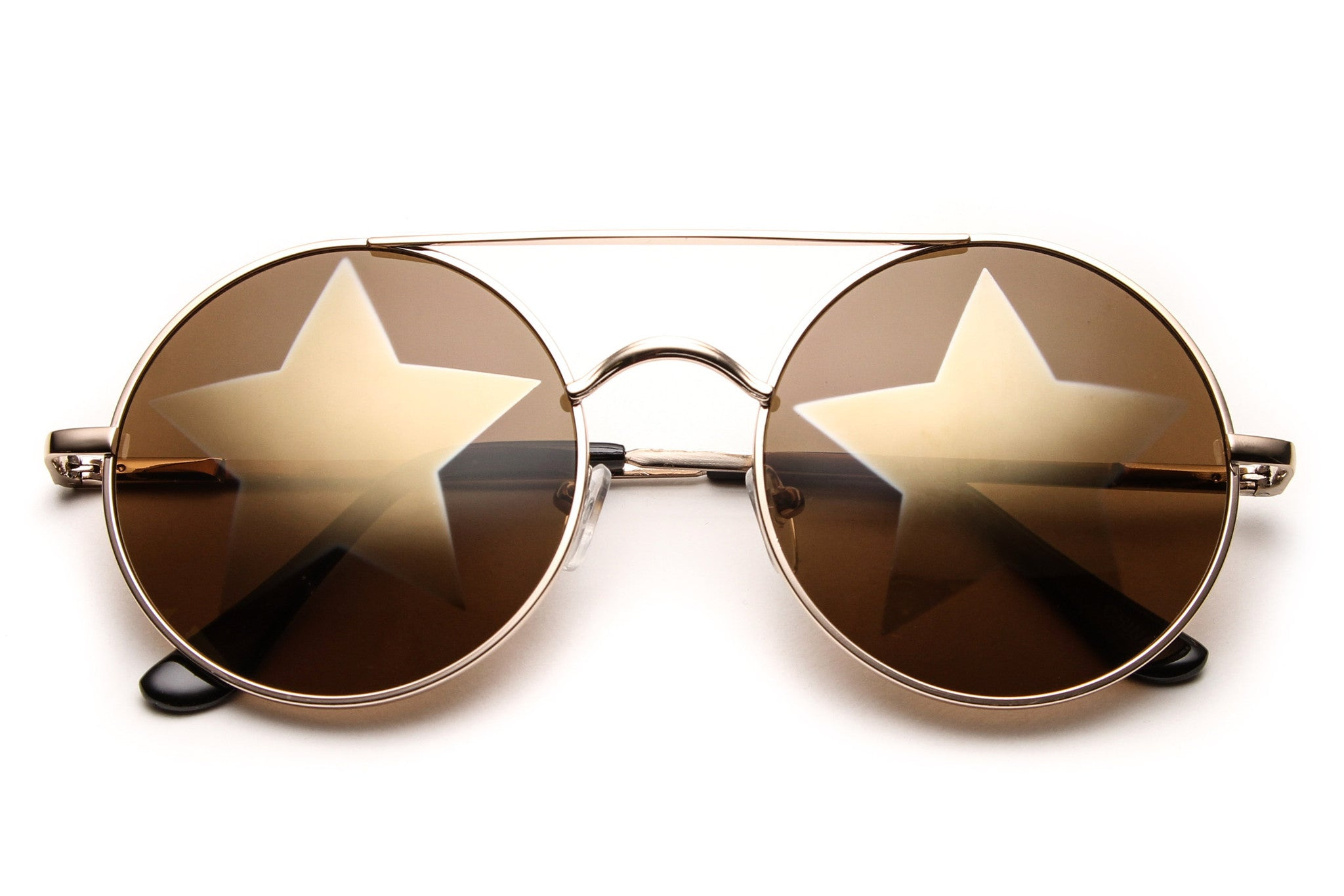 Leah Starstruck Round Metal Frame Sunglasses