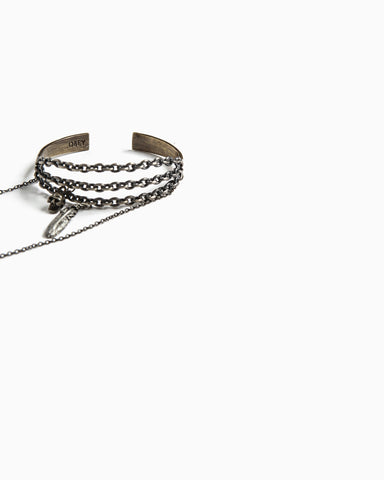 Chained Craft Bracelet (Antique Silver)