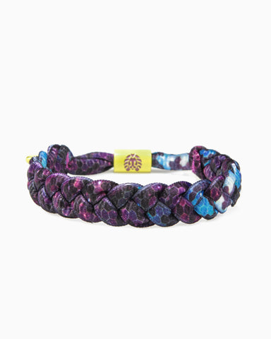 Cosmic Ray Shoelace Bracelet (Dark Purple/Light Purple)