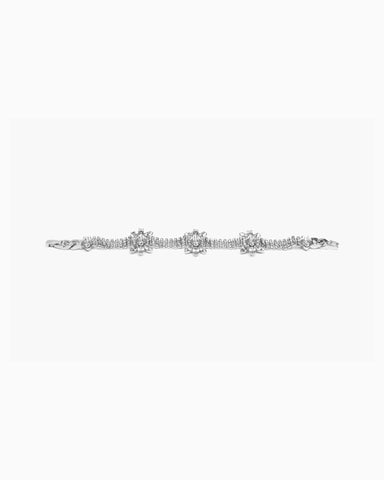 Chrysler Bracelet (Clear/White/Silver)