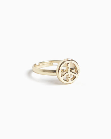 Adjustable Peace Ring (More Colors)