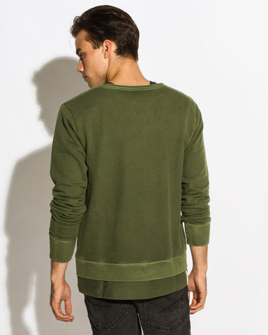 Men's La Dispute Crew Sweater (Guerilla Green)