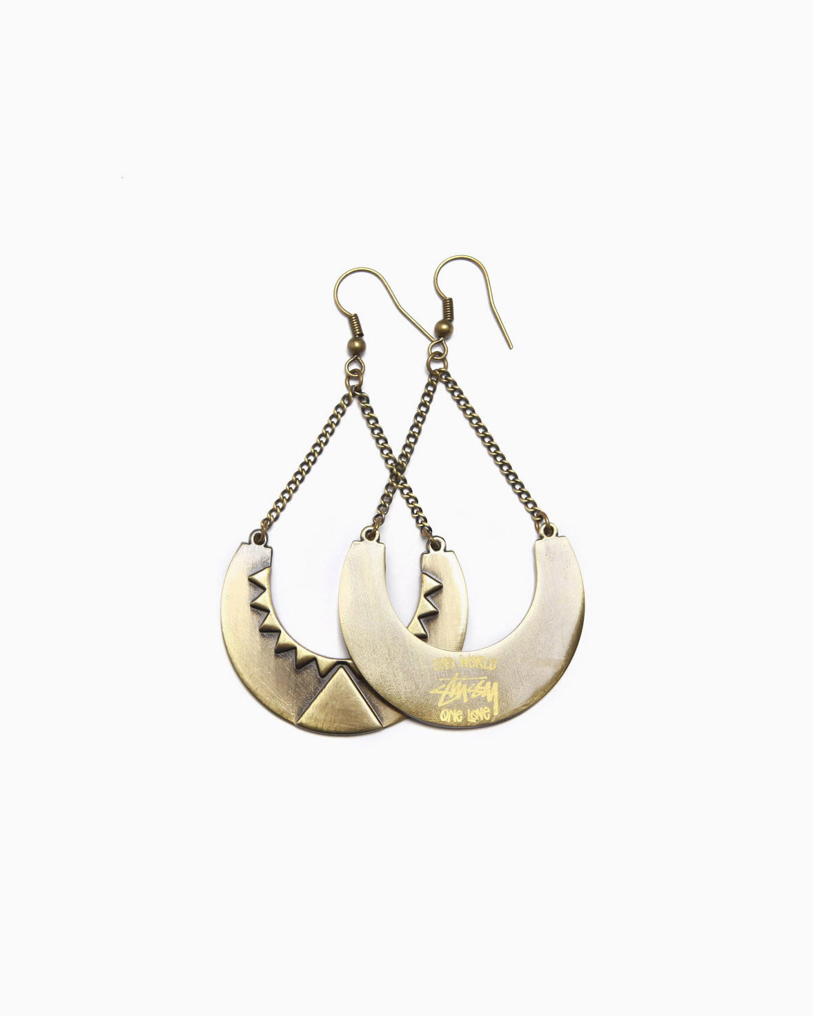 Women's Crescent Earrings (Gold)