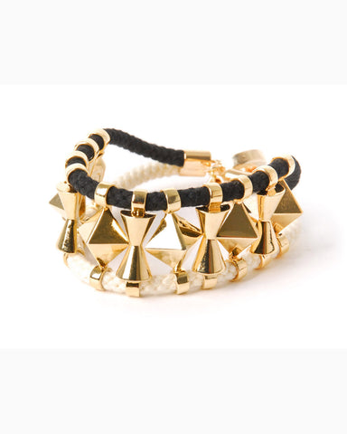 Cord LAMB Bracelet (Black/White)