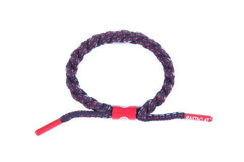 Bean Town Shoe Lace Bracelet (Navy/Red/White)