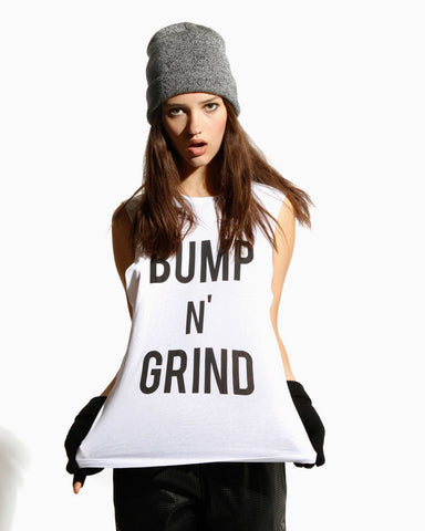 Women's Bump N' Grind Tank (White)