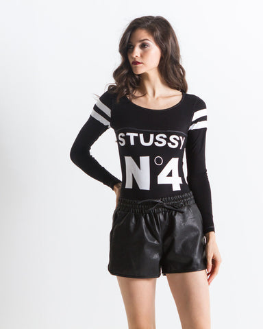 Eloise Leather Shorts (Black)