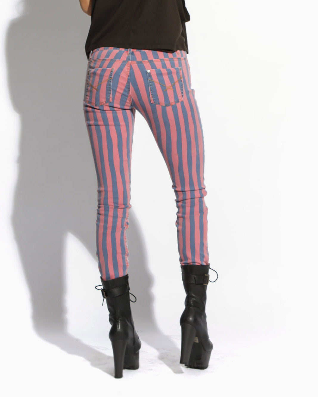 Women's Beanpole Stripe Pant (Blue)