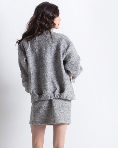 Emma Pointelle Jacket (Grey)