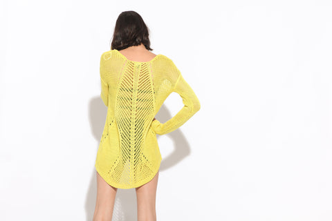 Women's Ozzy Sweater (Yellow)