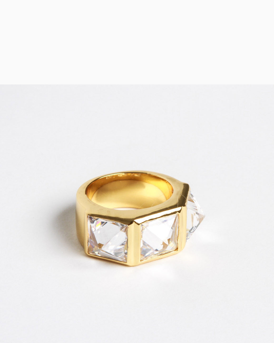 Crystal Spike Ring (Gold)