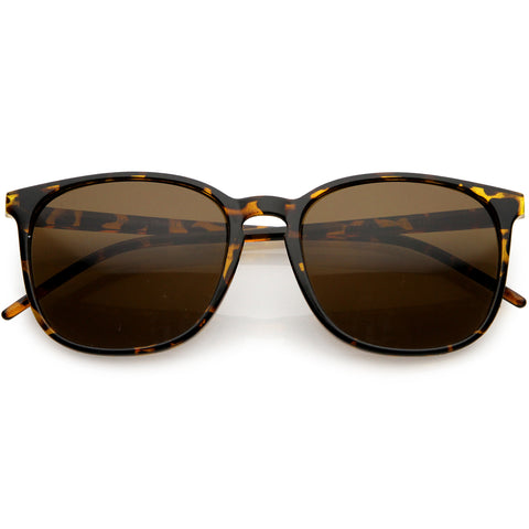 Thin Everyday Lightweight Oversize Horn Rimmed Sunglasses 54mm